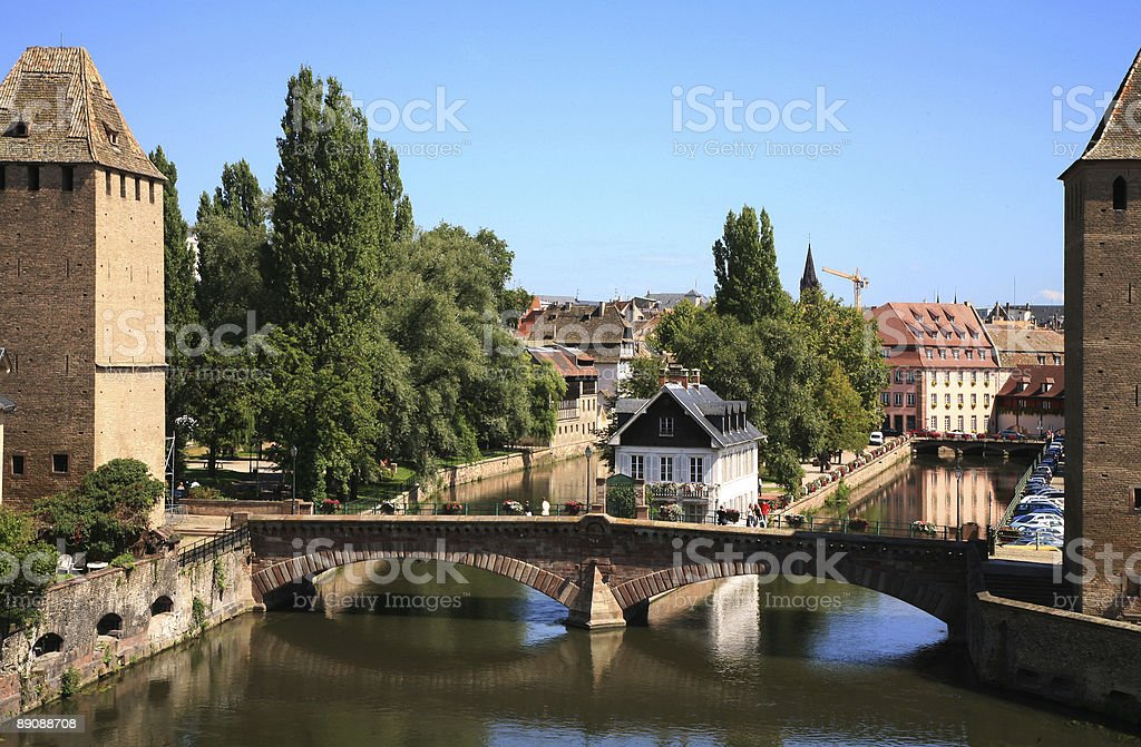 Ponts Couverts in Strasbourg, France, Alsace stock photo