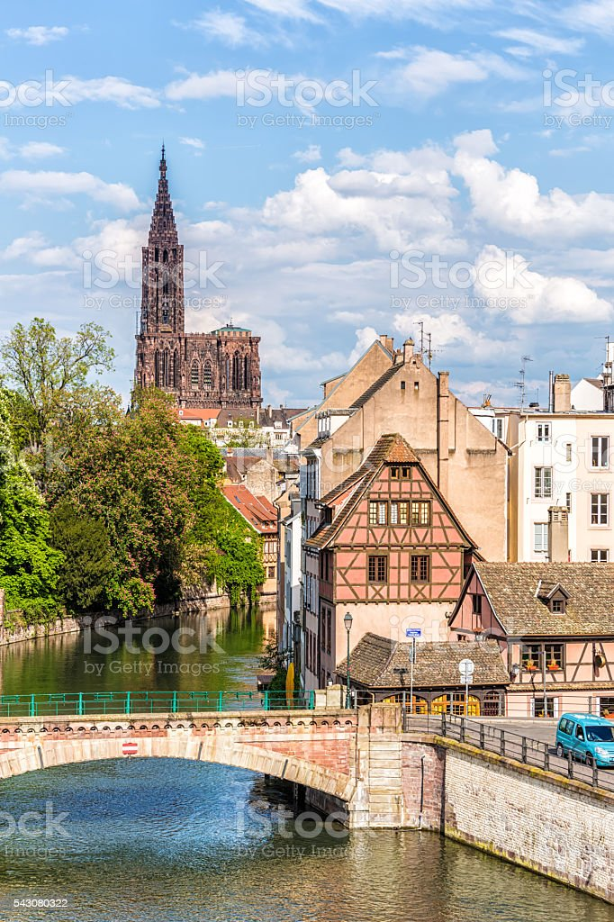 Covered Bridges (Ponts Couverts ) in Strasbourg stock photo