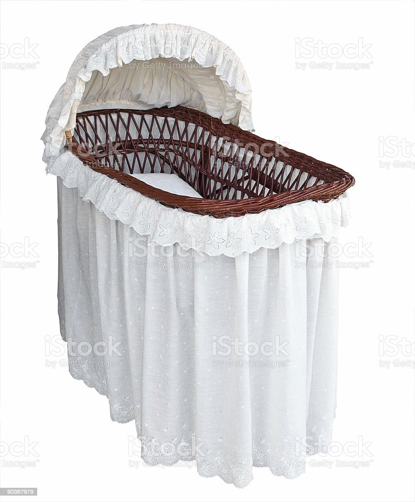 Covered Cane Bassinet royalty-free stock photo