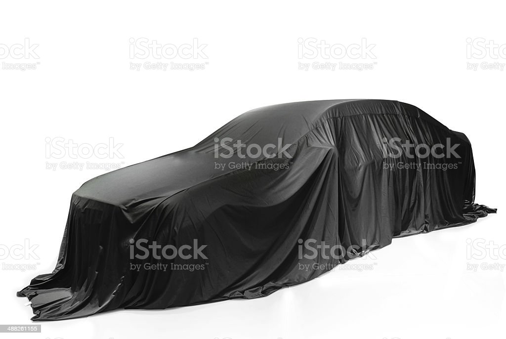 Covered Car isolated on white royalty-free stock photo
