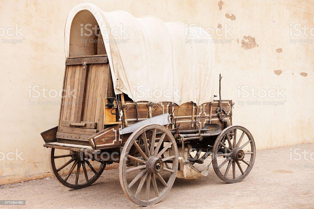Covered Conestoga Wagon stock photo