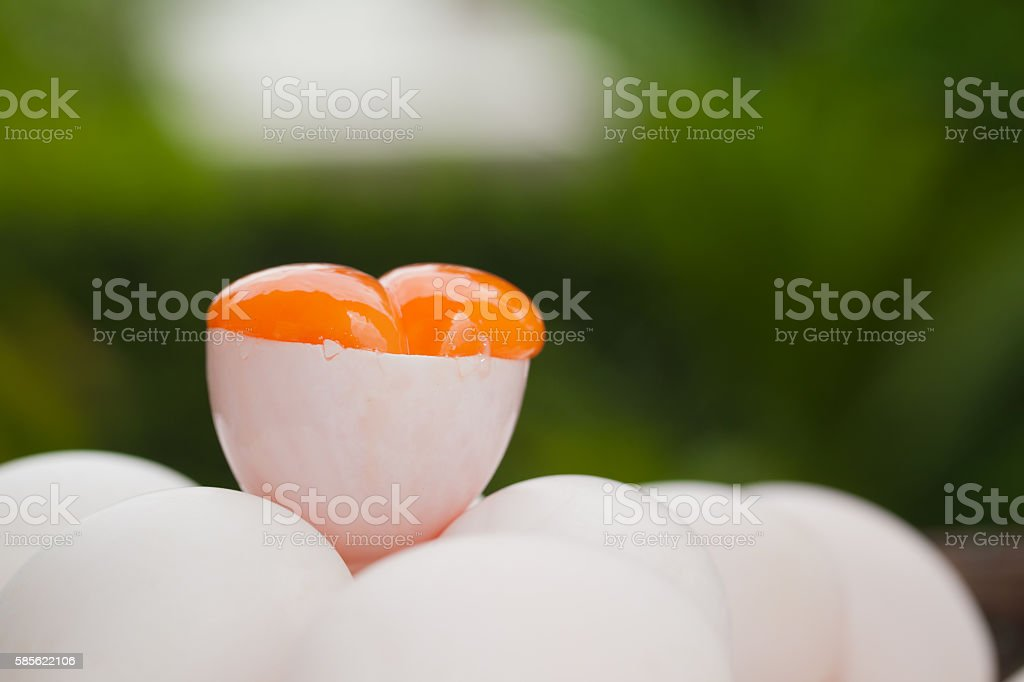 Covered Eggs (Khai Krob) from Songkhla the Southern of Thailand stock photo