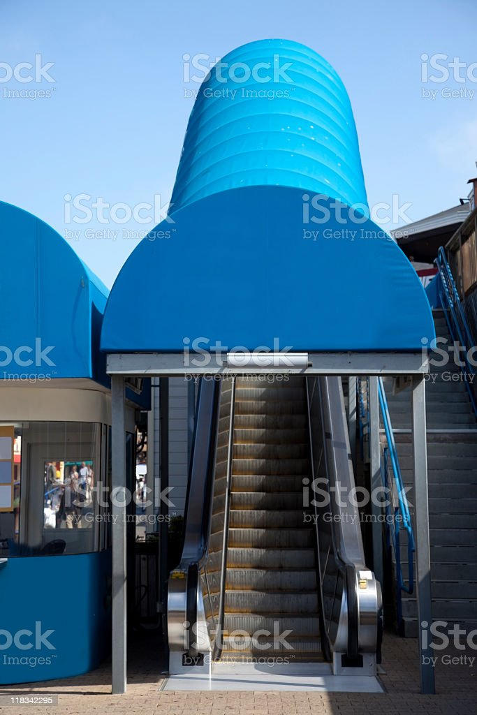 Covered Entrance stock photo