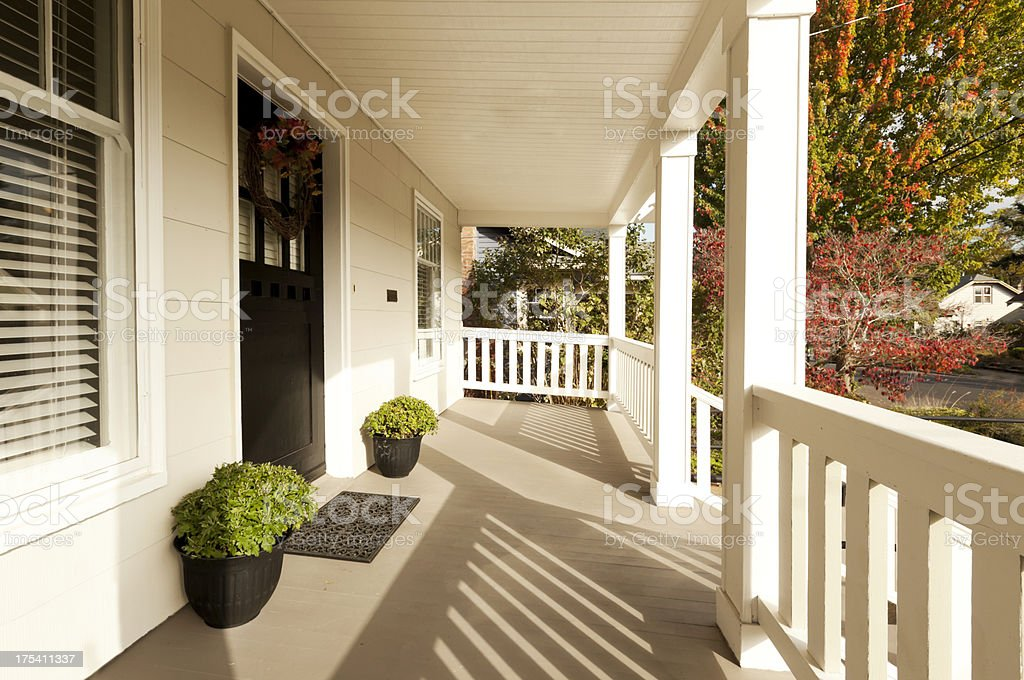 Covered Front Porch stock photo