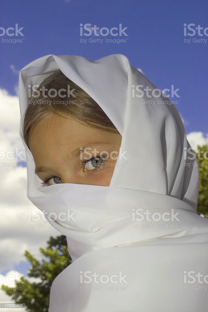 Covered Girl 2 royalty-free stock photo