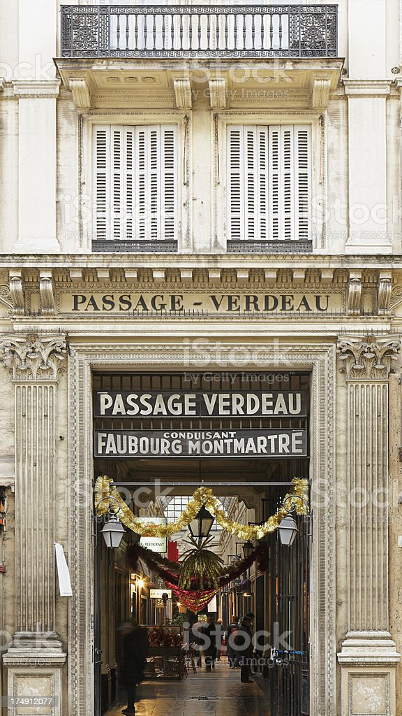Covered Passage - Paris royalty-free stock photo