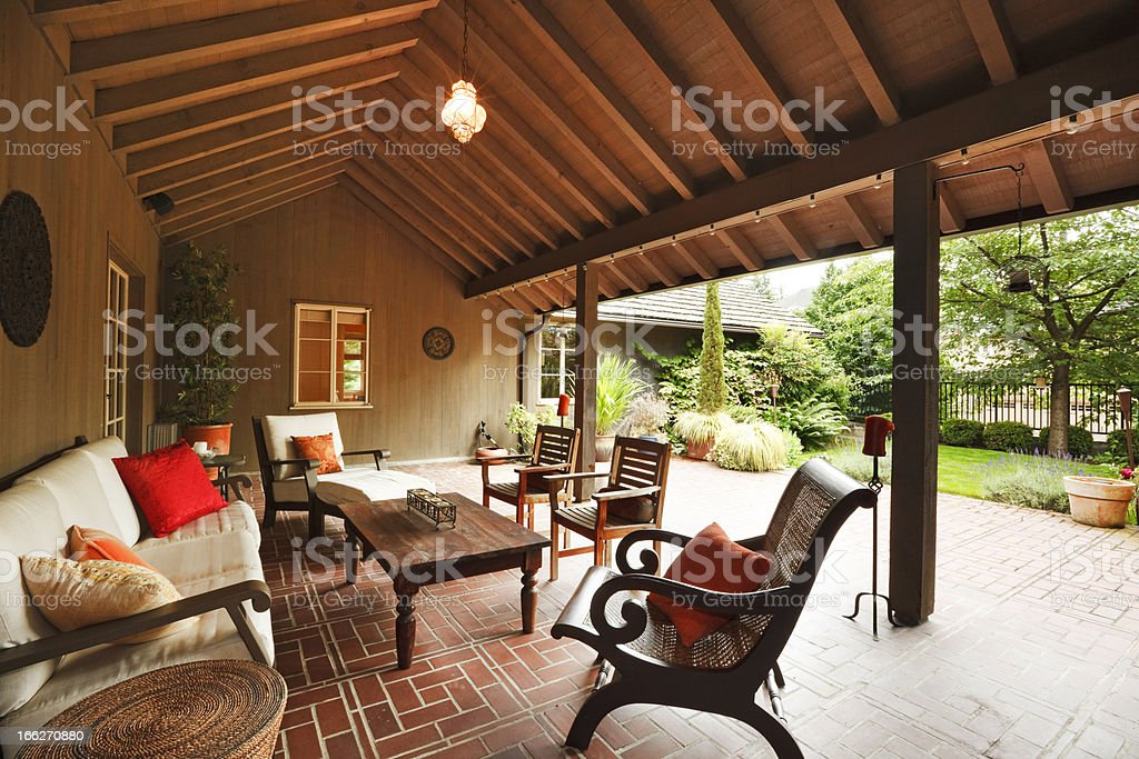 Covered Patio royalty-free stock photo
