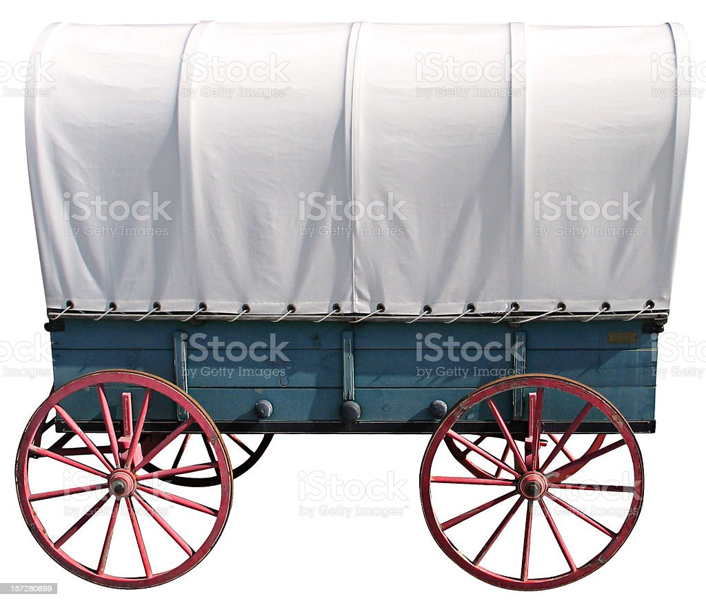 Covered Wagon royalty-free stock photo