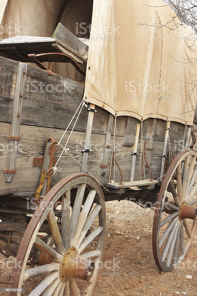 Covered Wagon Stagecoach Carriage Cart stock photo