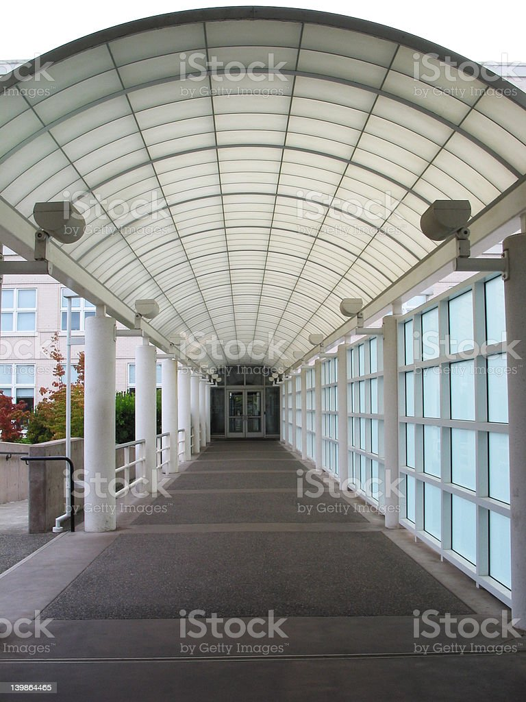 Covered Walkway royalty-free stock photo