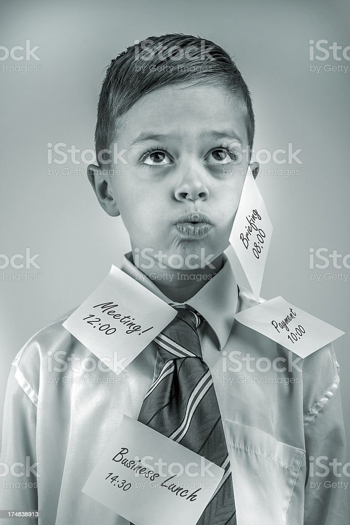 Covered with stickers royalty-free stock photo