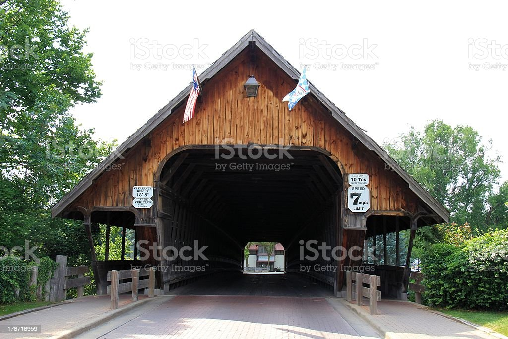 Covered Wood Bridge royalty-free stock photo