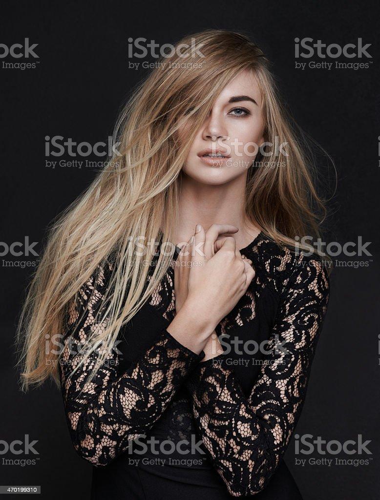 Covergirl style stock photo
