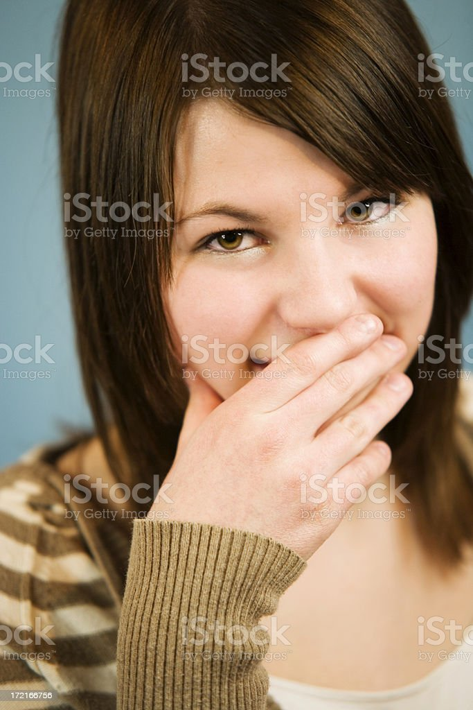 Covering Mouth royalty-free stock photo