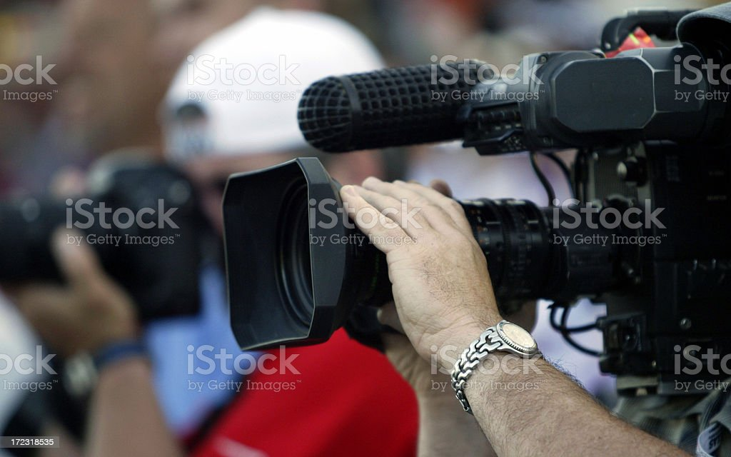 Covering the news royalty-free stock photo