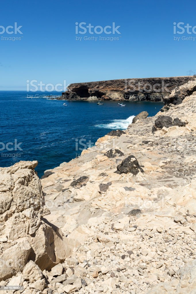 Coves and caves in Ajuy, Fuerteventura, Canary Islands, Spain stock photo