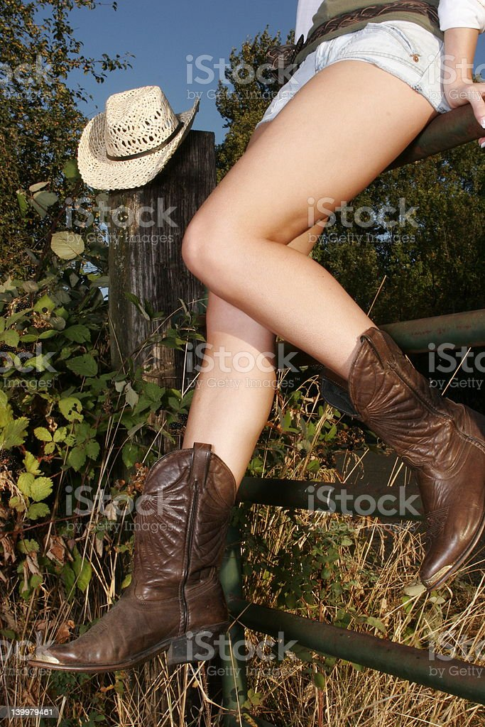 Cow girl look royalty-free stock photo