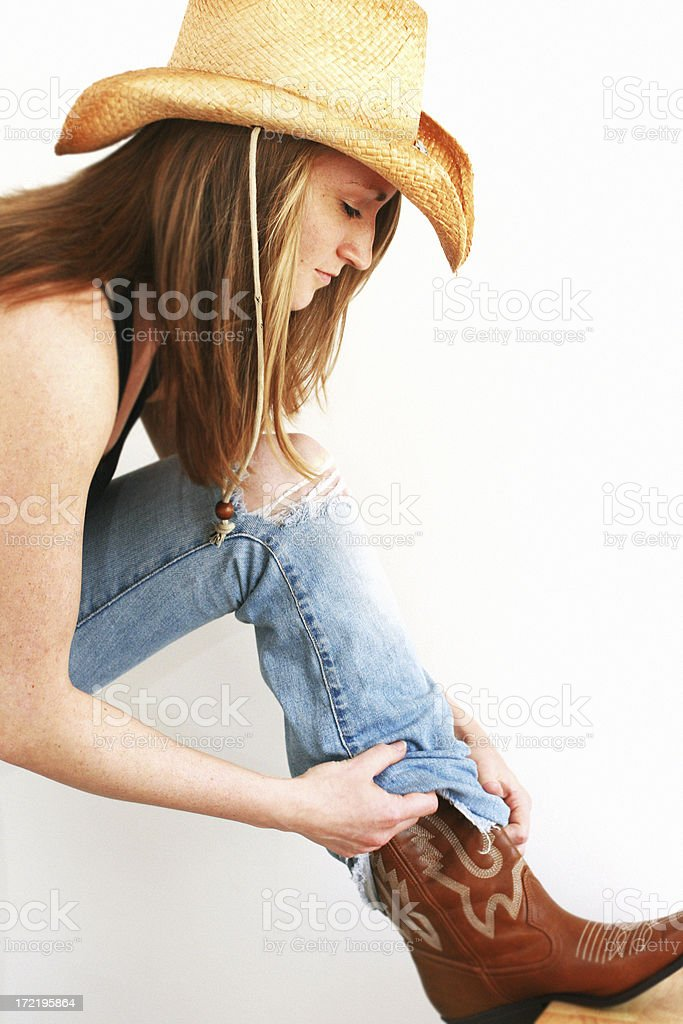 cow girl royalty-free stock photo