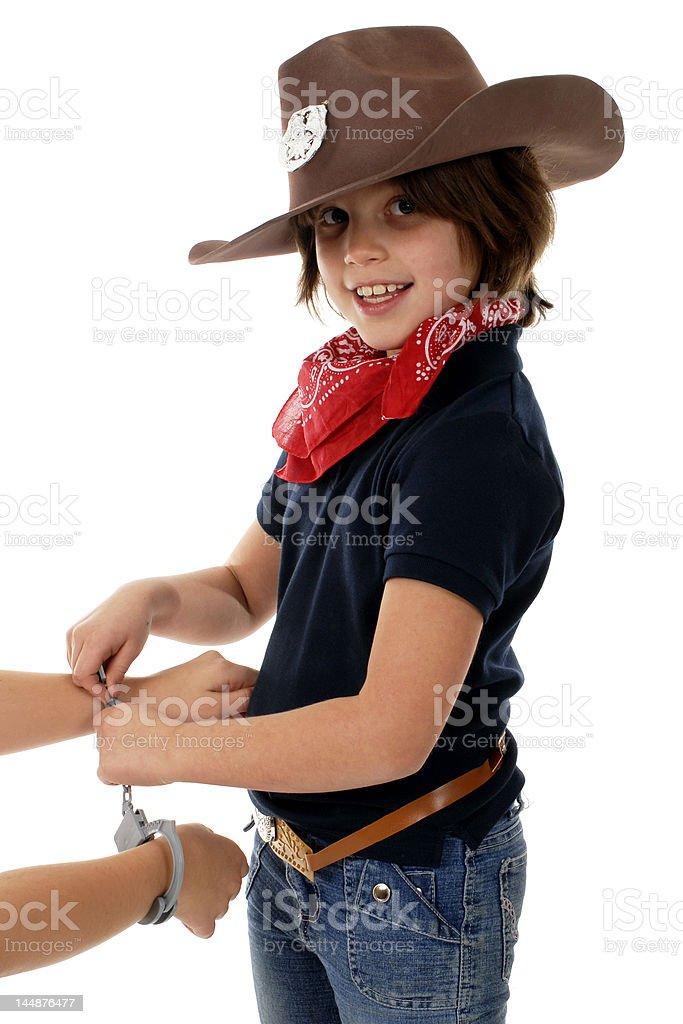 Cow Girl Sheriff royalty-free stock photo