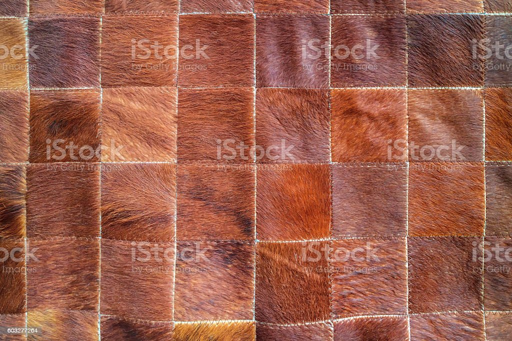 Cow leather with pattern stock photo