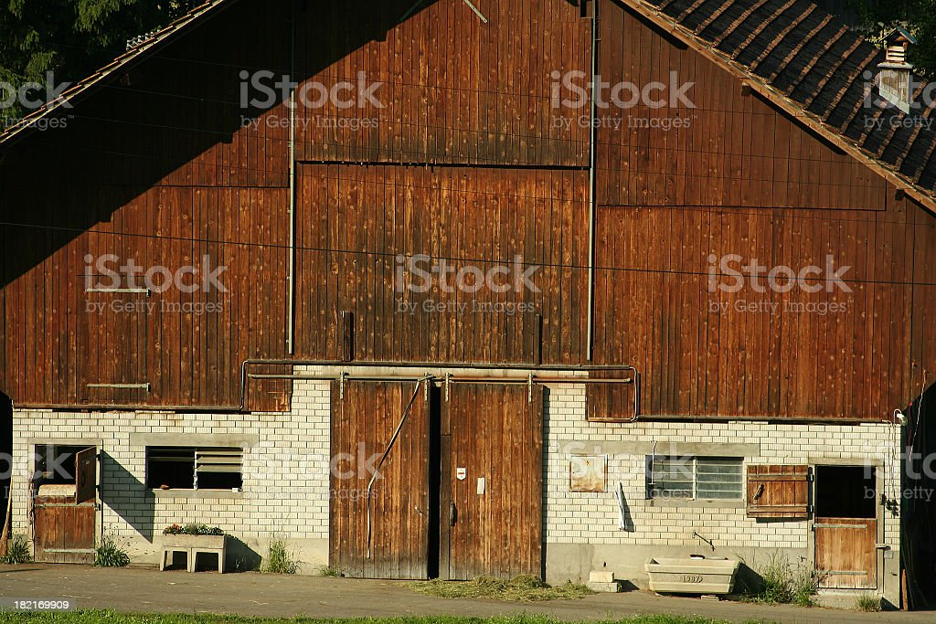 Cow Shed stock photo