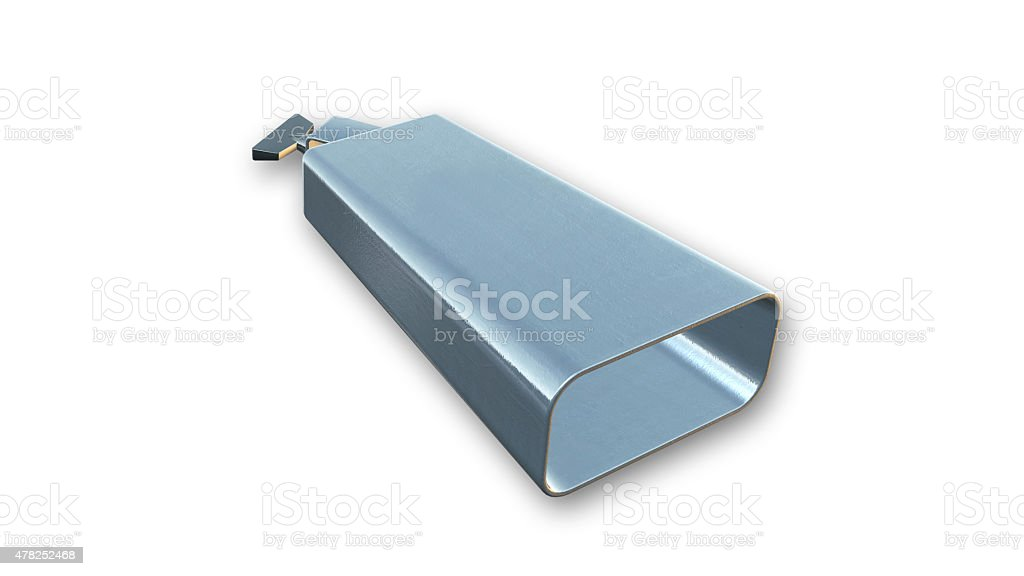 Cowbell, musical instrument isolated on white background stock photo