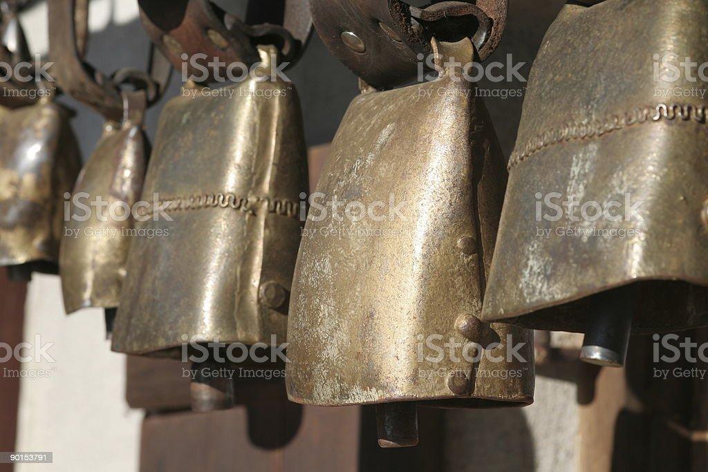 cowbells, Kuhschellen stock photo