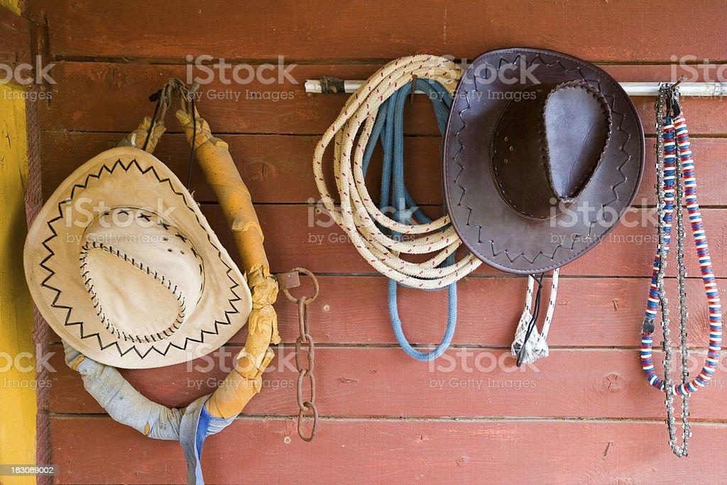 Cowboy accessories stock photo