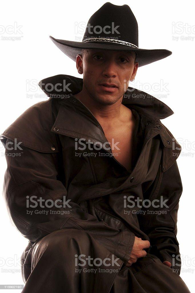Cowboy Alone royalty-free stock photo