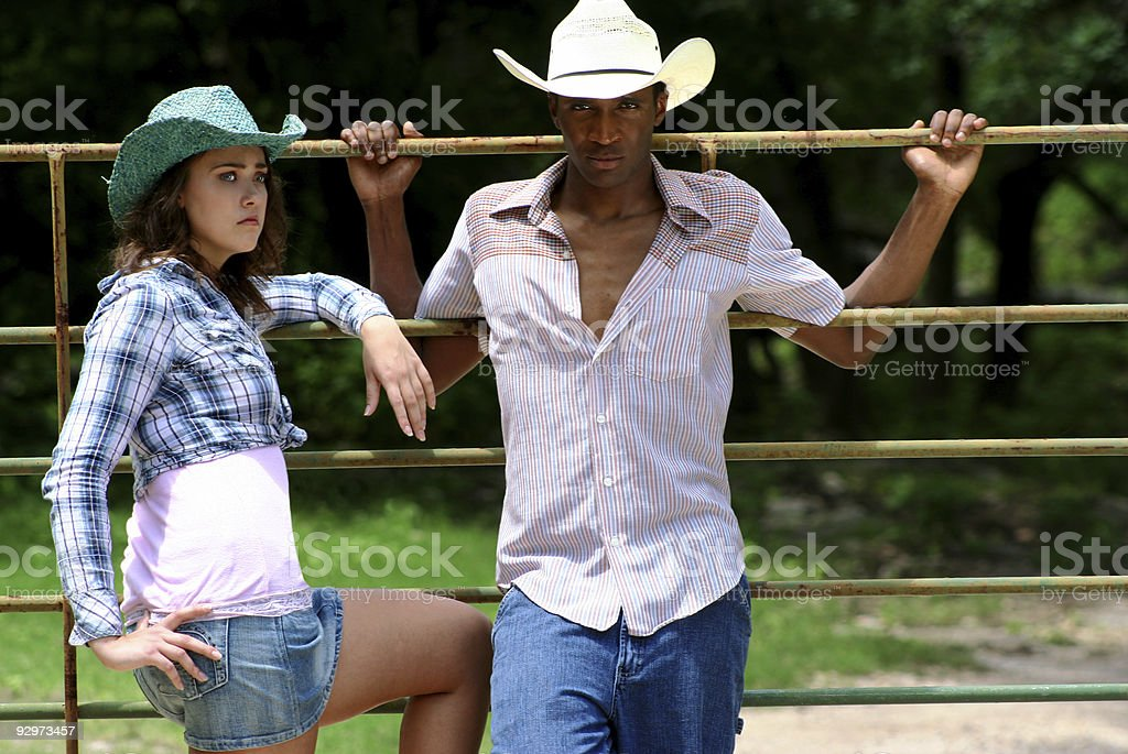 Cowboy and Cowgirl royalty-free stock photo