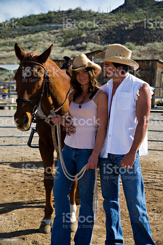 Cowboy and his Cowgirl royalty-free stock photo