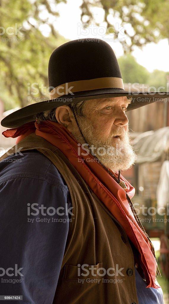 Cowboy at the ranch royalty-free stock photo