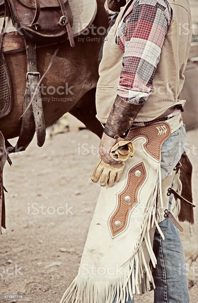 Cowboy attire stock photo