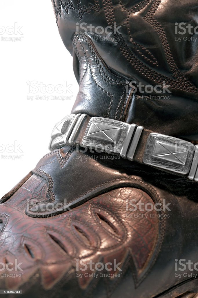 cowboy boot closeup royalty-free stock photo
