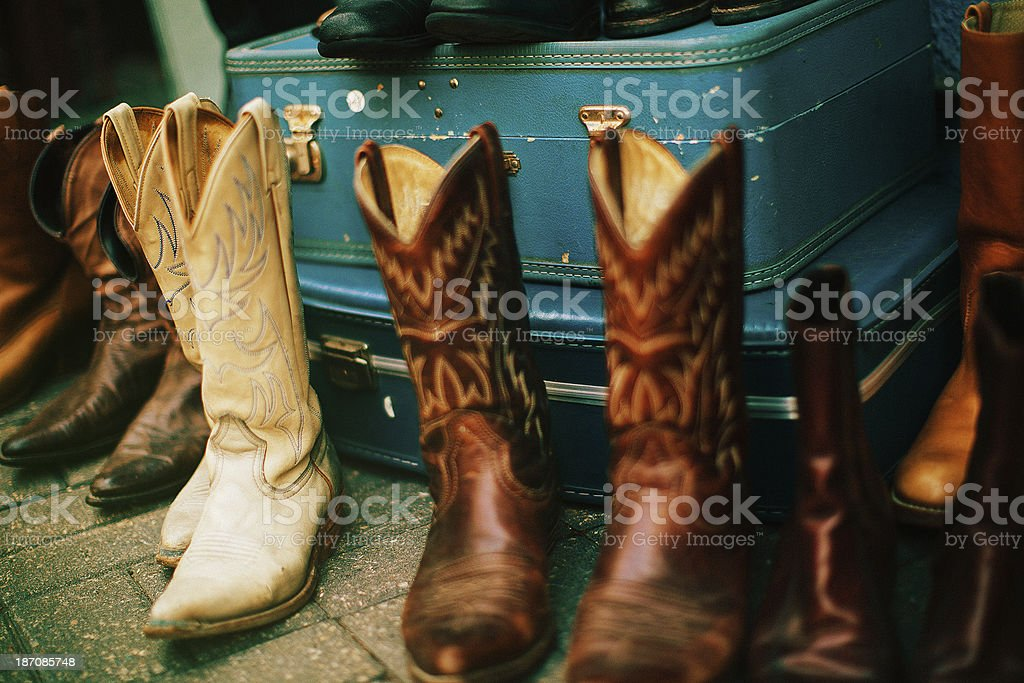 cowboy boots for sale royalty-free stock photo