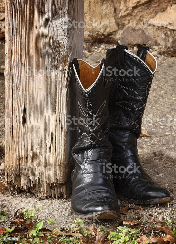 Cowboy Boots Leather Masculine Fashion royalty-free stock photo