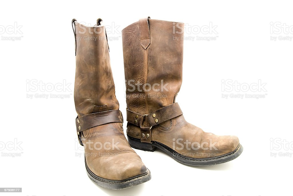 cowboy boots stock photo