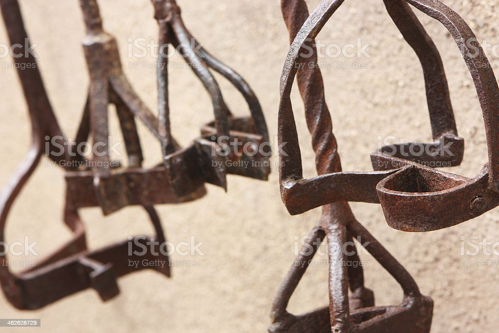 Cowboy Branding Irons stock photo