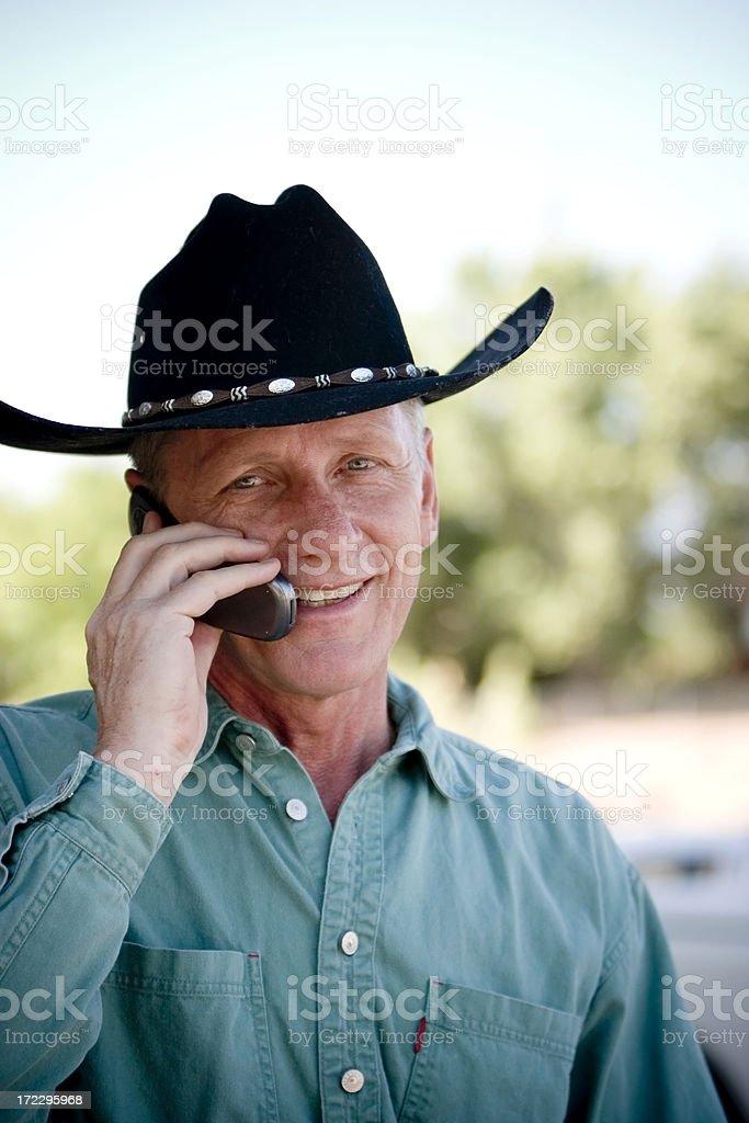 Cowboy Calling stock photo