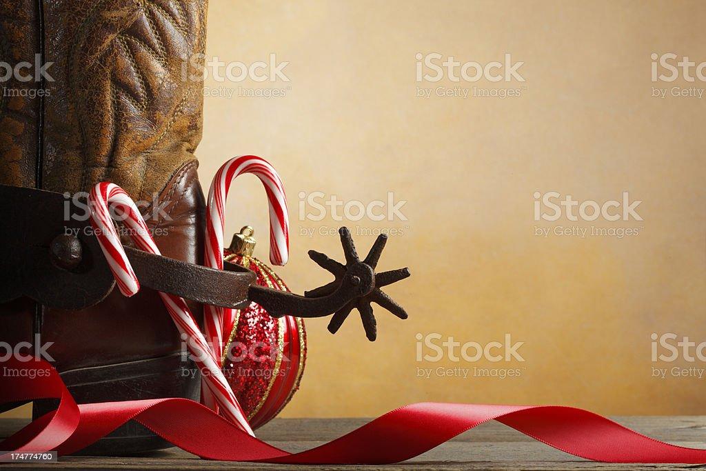 Cowboy Christmas royalty-free stock photo