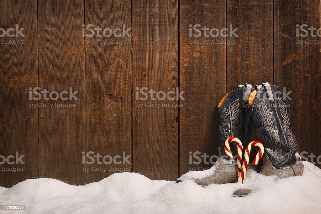 Cowboy Christmas stock photo