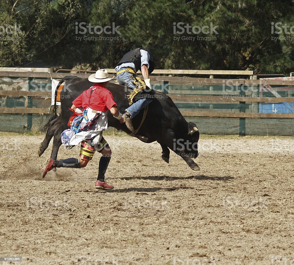 Cowboy & Clown royalty-free stock photo