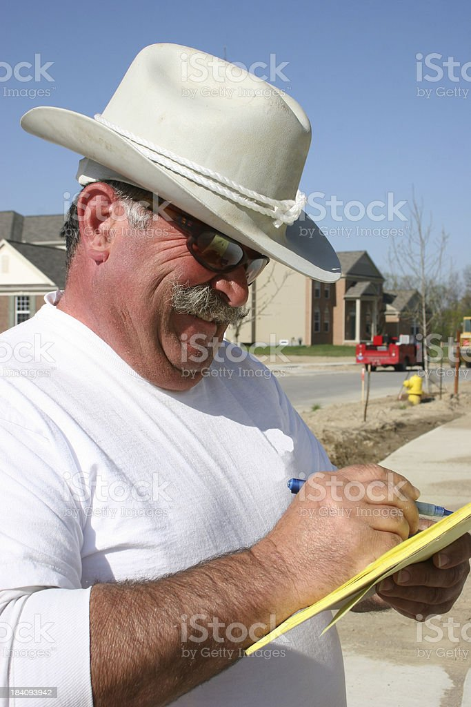 Cowboy Construction Close-up Vertical royalty-free stock photo