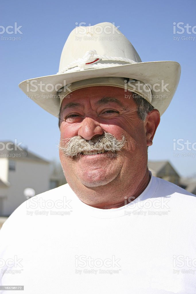 Cowboy Construction Portrait royalty-free stock photo