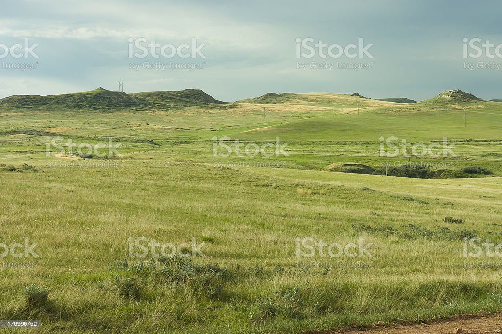 cowboy country farmland stock photo