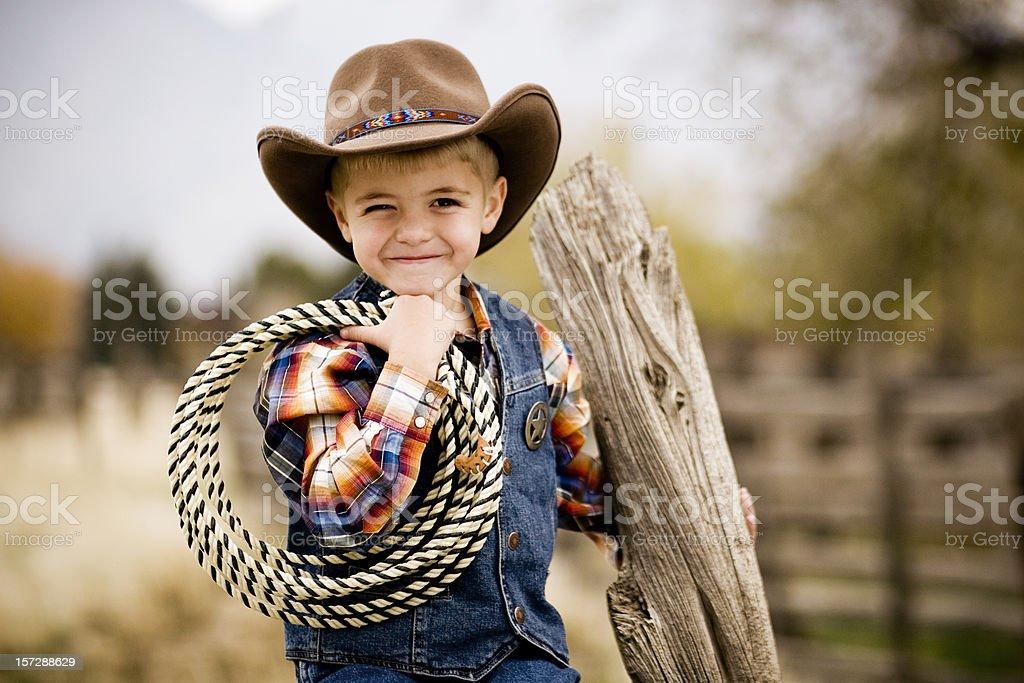 Cowboy Cutie stock photo