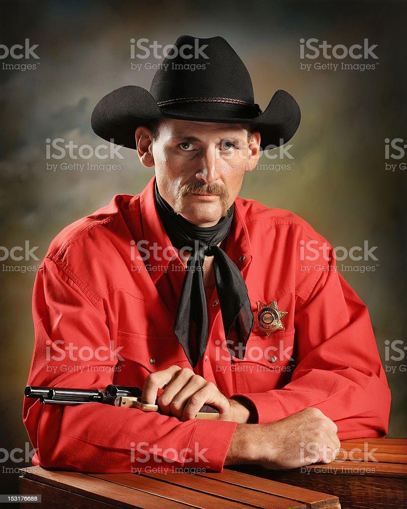 cowboy deputy royalty-free stock photo