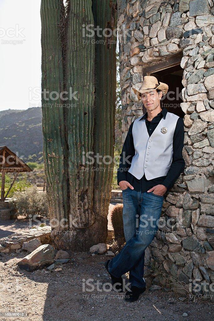 Cowboy Deputy Sheriff stock photo