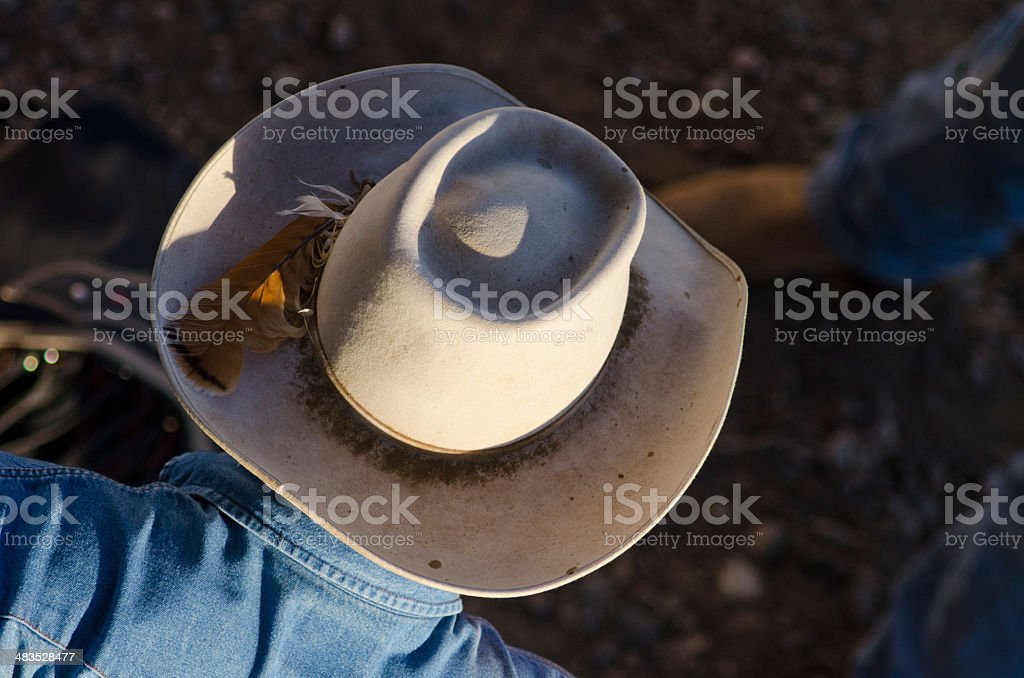 Cowboy From Above stock photo