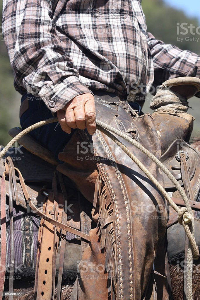 cowboy gear stock photo
